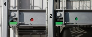 Freighter's red/green indicator system means operators can always tell when the Auto Mezz Deck is safe to load.