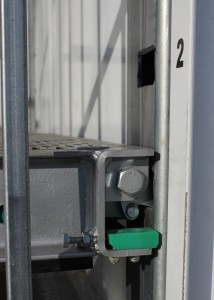Freighter's Auto Mezz Deck features a fail safe locking system